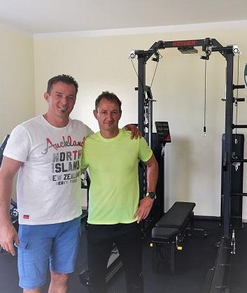 Orbán Zsolt a Pure Sports Kft. ügyvezetője és Orbán Attila erőnléti edző, Illés Akadémia
